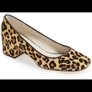 Bettye Muller calf leopard square heels size 8.5